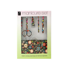 Set of 4 Bulk Lot Manicure Set With Stylish Floral Carrying Case