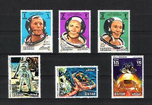 """Qatar """" Apollo 11 Mission """" Mi - Nr. 397 – 402 gezähnt postfrisch"""
