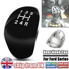 5 Speed Gear Knob Cap Decal Trim Badge Emblem For Ford Fiesta Focus Mondeo Black