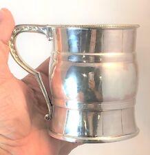 Antique Sterling Silver Tankard Christening Mug c.1871 Whiting Co.  136 gr