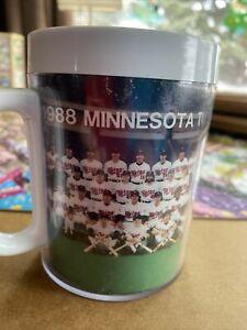 1988 Minnesota Twins Gatorade Thermo Serv Insulated Mug Cup