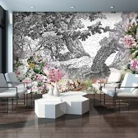 VLIES Fototapeten Fototapete Tapete Kunst ABBILDUNG Blumen Pflanzen 3FX11397VE