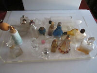 23 VTG PERFUME BOTTLES AND DECANTERS & MORE - SEE PICS -