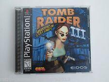Tomb Raider III: Adventures of Lara Croft (Sony PlayStation 1, 1998) NTSC