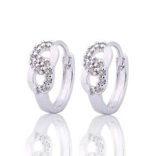 MODOU New Fashion Women's Jewelry White Sapphire Earrings 18K White Gold Filled
