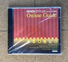 Vintage Epson Stylus Color 440 Online Guide for Windows CD, Printer Instructions
