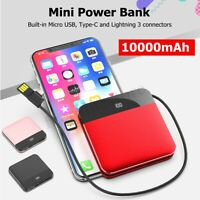10000mAh Portable Mini Power Bank Battery Charger 2 USB Fast Charging ❤
