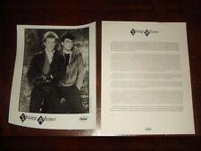"Ultra Rare STRANGE ADVANCE ""2WO"" 1985 CAPITOL RECORDS PRESS KIT + PHOTO"