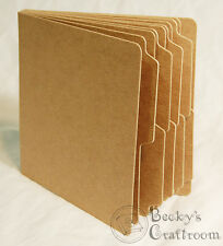 """5.5""""x5.75"""" Mini Tabbed Chipboard Album 10 pages unbound - use 6x6 paper pads!"""