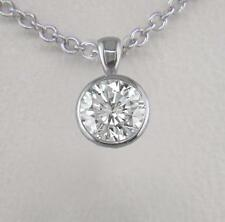 0.20ct Diamond and Platinum Pendant Certified D IF Exc Brilliant Cut with Chain