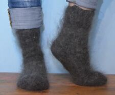 100% Goat wool. Classic Wool woman UltraSoft socks Fuzzy  very warm fluffy