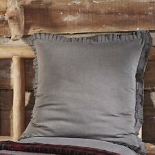 VHC Rustic Euro Sham 26 x 26 Black Chambray Bedding Cotton Square