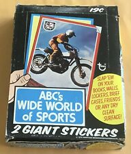 1975 Topps ABC's Wide World Of Sports Wax Box Giant Stickers