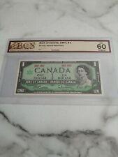 1967, $1 dollar, Canada, Beattie-Rasminsky, UNC-60 graded by BCS, BC-45a