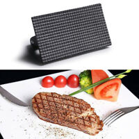 Rectangular Cast Iron Grill Press Griddle Barbecue BBQ Tool Steak Hamburger Meat