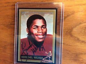 Herschel Walker Georgia  running back AUTOGRAPHED  official heisman trophy card