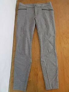 Athleta Women's Front Zip Articulated Seaming Sport pants Sz 8 Classic Gray