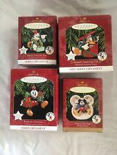 Mickey & Co Lot of 4 Hallmark Ornaments, EUC