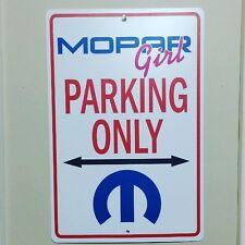 Dodge Mopar Girl  Parking Sign