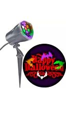 Outdoor LED Lightshow Projection Whirl Motion Static Orange Happy Halloween Bats