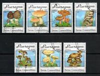 Setas Nicaragua (18) serie completo de 7 sellos matasellados