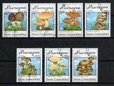 Champignons Nicaragua (18) série complète de 7 timbres oblitérés