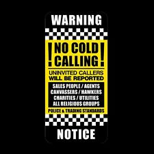 No Canvassers - No Cold Callers - Front Door Letter Box Sign / Sticker