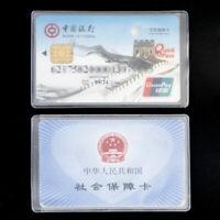10pcs Credit Card Sets Protector Secure Sleeves ID Card Holder transparent Hot