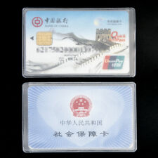 10pcs Credit Card Sets Protector Secure Sleeves ID Card Holder  Clear matte Hot