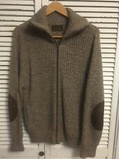 Vintage Eddie Bauer Wool Knit Full Zip Cardigan Turtle Neck Sweater Men's  Large