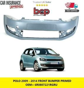 VW POLO FRONT BUMPER 6R 2009 - 2014 PRIMED NEW WITHOUT PARKING SENSORS