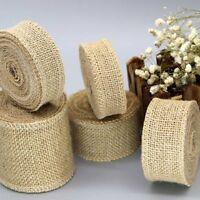 2Yards/roll Jute Burlap Ribbon Natural Hemp Ribbon DIY Material Gift Wrapping