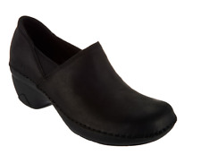 Merrell Water Resistant Leather Slip-On Shoes - Emma Leather Black Women's 5 New