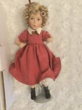 """RARE Movie Memories Collection Shirley Temple Littlest Rebel 8"""" Doll Porcelain"""