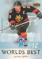 2004-05 Upper Deck World's Best Hockey Cards Pick From List