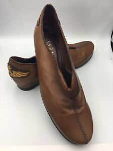 Hispanitas VTG Slouchy Hip Designer Cognac Leather Bootie 7 38 Honda Gold Wing