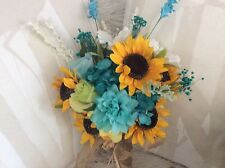 Wedding Flowers Bridal Bouquets Decorations Sunflowers Turquoise oasis