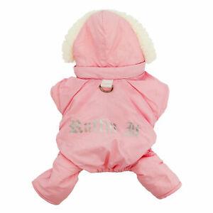 Doggie Design Dog Snowsuit  Ruffin It  Pink