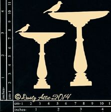 The Dusty Attic Chipboard - Bird Bath 2pk