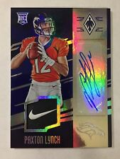 Paxton Lynch 2016 Phoenix Autograph RC Nike Swoosh Patch 1/1 Broncos Seahawks