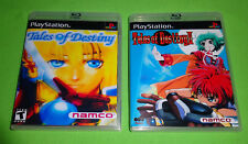 EMPTY REPLACE CASES!  Tales of Destiny I + II Sony PlayStation 1 PS1 PS2 PS3