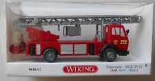 MERCEDES BENZ 1619 FIRE ENGINE TRUCK WIKING 1/87 Plastic Miniature Car HO Scale