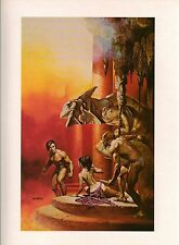 """1978 Full Color Plate """"The Best of Leigh Brackett""""  Boris Vallejo Fantastic GGA"""