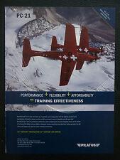 6/2011 PUB PILATUS PC-21 TRAINER SWISS AIRCRAFT ALPES ORIGINAL FLUGZEUG AD