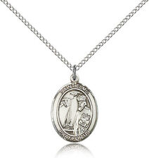 """Saint Elmo Medal For Women - .925 Sterling Silver Necklace On 18"""" Chain - 30 ..."""