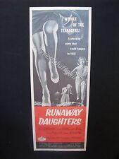 RUNAWAY DAUGHTERS  1956 American International Pictures Movie Poster