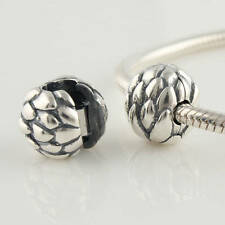 New Auth 925 Sterling Silver Charm Stopper Bead fits Fashion Bracelets Clip on