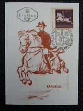 AUSTRIA MK 1972 1399 REITSCHULE PFERDE DRESSUR CARTE MAXIMUM CARD MC CM a8526