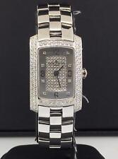 Baume & Mercier Hamptons Milleis 22mm 18k White Gold Pave Diamonds Ref. 8513