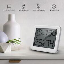"""3.2"""" LCD Digital Temperature Meter Clock Home Thermometer Hygrometer ATF"""